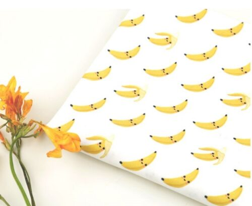 Smile Banana Patterned Fabric made in Korea By the Yard