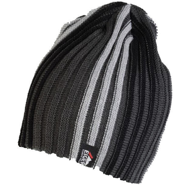 Eiger Knitted Striped Beanie Hat Wool Fishing Hunting Walking Shoot Climb  Skiing Black  69bdbd57158