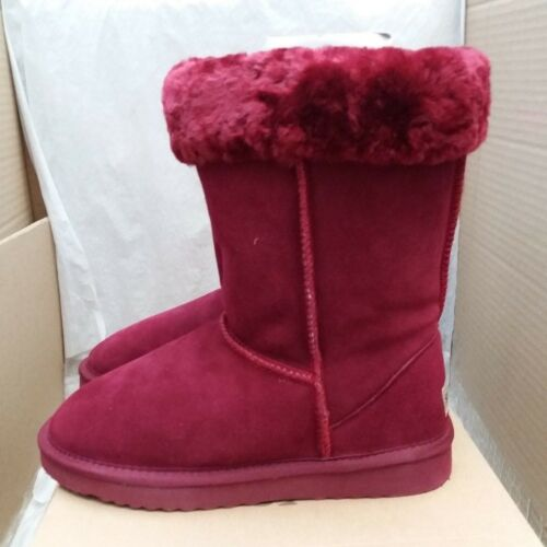 Eu Snow Paw 38 5826 Size Uk Boots 5 Winter Suede Winy Red Sheepskin Collar amp; OTOrwdZq