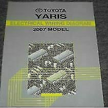 2007 Toyota YARIS Electrical Wiring Diagram Shop Repair ...