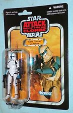 Star Wars Vintage Collection AOTC Clone Trooper Lieutenant VC109 MOSC