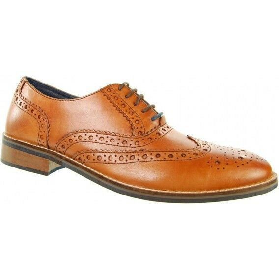 Adesso Lewis Gents Leather Brogues Tan Größe 10 10 10 d7eb1e