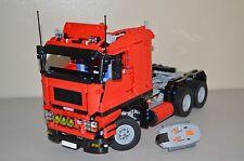 NEW LEGO TECHNIC RED 8258 V10 CUSTOM TRUCK w/ Power Functions 8882/8883/8884