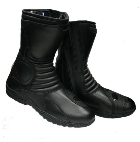 NEW BIKERS GEAR TOURING WATERPROOF MOTORCYCLE LEATHER BOOT SIZE 40 TO 48
