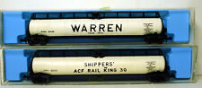 "N SCALE - ATLAS JUMBO TANK CARS, ATLAS #2346 ""SHIPPERS"" AND ""WARREN"" #2348 ""NOS"""