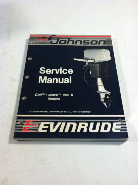 """1988 JOHNSON EVINRUDE """"CC"""" CULT / JUNIOR - 8 MODELS P/N 507659 OUTBOARD MANUAL"""