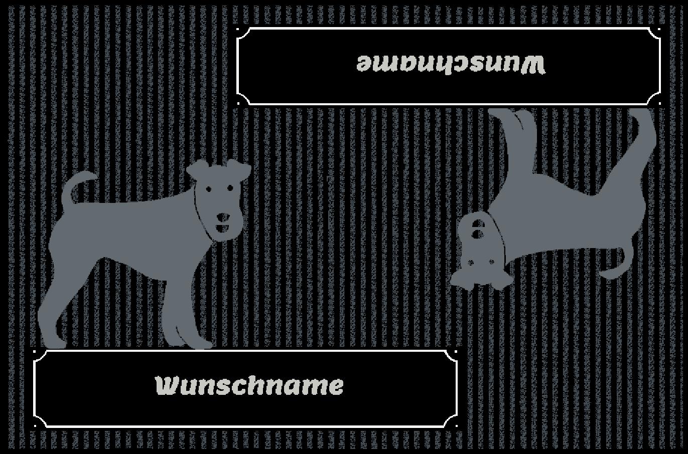 Fußmatte mit Namen Napfunterlage Hundematte  90x60 cm cm cm  Design 27180788  | Exzellente Verarbeitung  ab0ccd