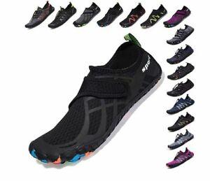 SCIEU Mens Women Barefoot Water Shoes