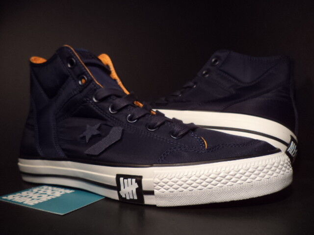 Converse POORMAN WEAPON HI UNDEFEATED NAVY BLUE WHITE BLACK ORANGE 116875 NEW 9