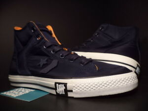 Image is loading Converse-POORMAN-WEAPON-HI-UNDEFEATED-NAVY-BLUE-WHITE- c297bda51
