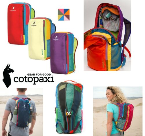 Details about  /COTOPAXI ONE-OF-A-KIND STOWABLE DAYPACK//BACKPACK BOLD COLORS RE-PURPOSE FABRIC