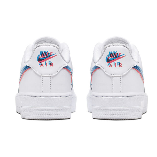 Nike Air Force 1 Low 3D Glasses (GS) Youth Kids Size Basketball Shoes BV2551 100
