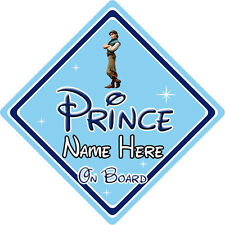 Personalised Disney Prince On Board Car Sign – Tangled Prince Eugene