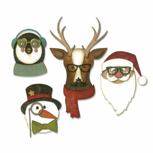 Thinlit  Cutting Die 663099 Sizzix Cool Yule Thinlits Die 24PK