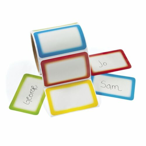 700 - Colorful Name Tag Self-Adhesive Labels  Stickers School Office Camps Party