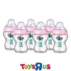 Tommee-Tippee-Pink-Feeding-Bottles-6PK