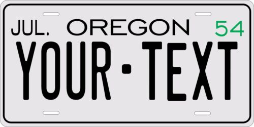 Oregon 1954 License Plate Personalized Custom Car Bike Motorcycle Moped Key tag