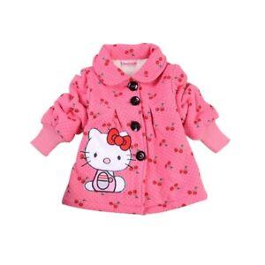 3fc8ae8e90d Girls Hello Kitty Winter Coat Baby Kids Fall Jackets girl s ...