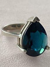 gold style Silver Mt St Helens Emerald women/'s ring Size 6 thru 9 Black Hills