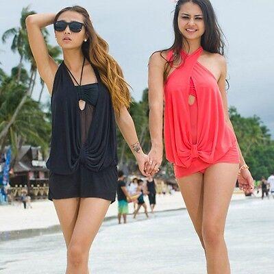 New Fashion One-piece Women Padded Monokini Bikini Swimsuit Swimwear Swimdress