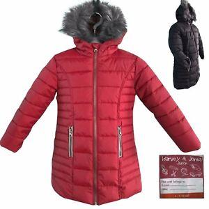 e5386b604 Kids Coat Girls Hooded Jacket Children Fur Lined Parka Winter School ...