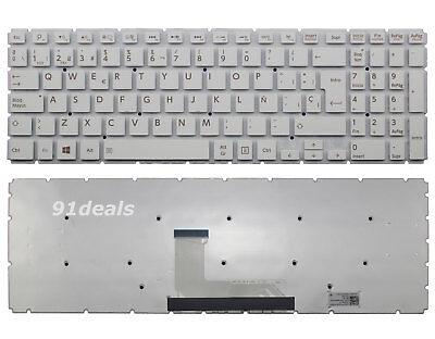 New for Toshiba AEBLIP00020 MP-13R86E0-9201 SP Spanish White Keyboard