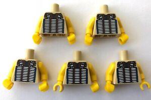 Lego-5-x-Leiber-Tribal-Chief-Indian-Minifigur-Torso-CMF-Minifiguren-Konvolut-Restposten
