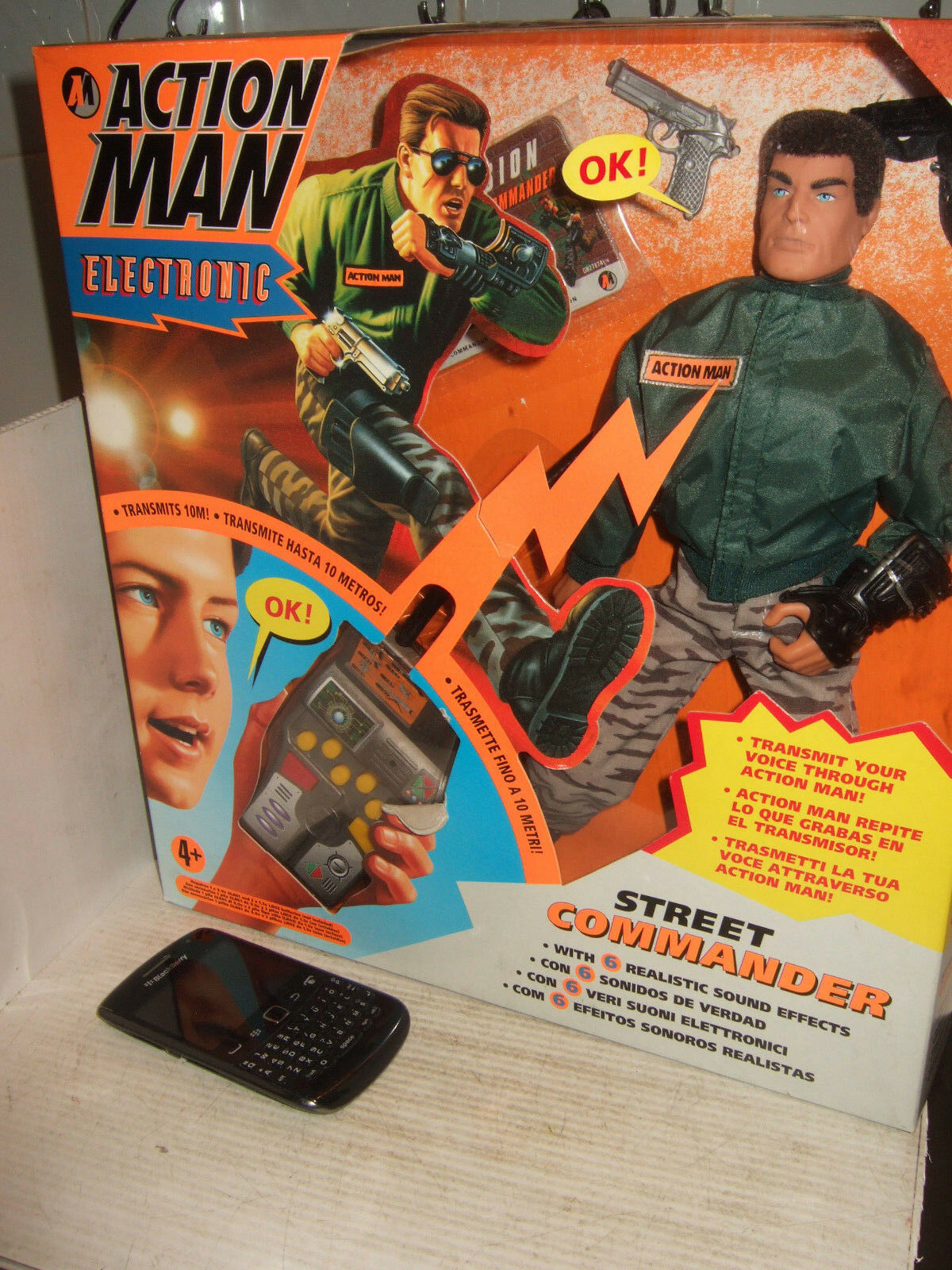 Hasbro 27874 Action Man Street Commander with Voice Transmit & Repeat by Figure.