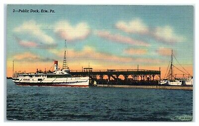 Old Time Erie: Erie Public Dock & Lower State Street