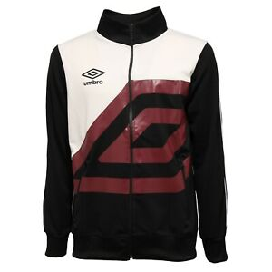 selezione premium ad5df 4f579 Dettagli su 3101K felpa uomo UMBRO black full zip sweatshirt man
