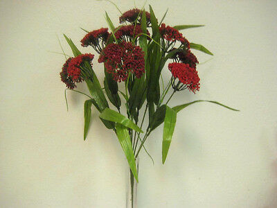 "RED Queen Lace Bush Artificial Flower 18"" Bouquet 980RD"