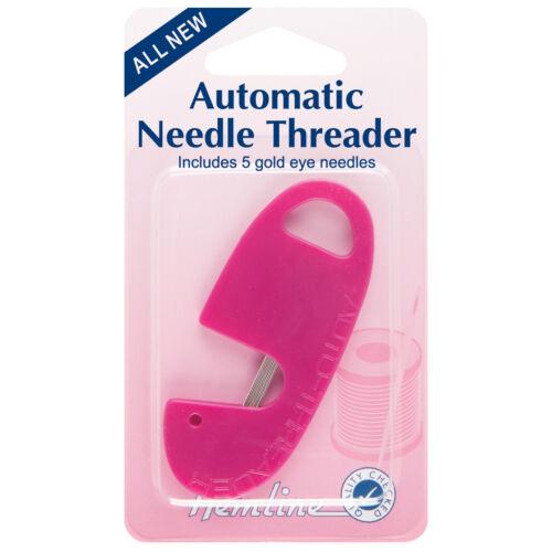 5x Needle Threader Automatic /& Needle Case Sewing Craft Tool Hobby Art