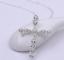 Collar-Cruz-De-Cristal-Colgante-de-placa-de-plata-esterlina-925-Cadena-De-Jesus-Damas-Nuevo miniatura 11