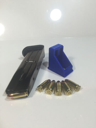 RangeTray Magazine SpeedLoader for FN FNS-9 Reg /& Compact Double Stack 9mm BLUE