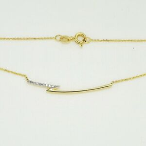 9K-Yellow-Gold-Gold-Bar-Necklace-with-9pcs-Natural-Diamonds-Incl-9K-Gold-Chain
