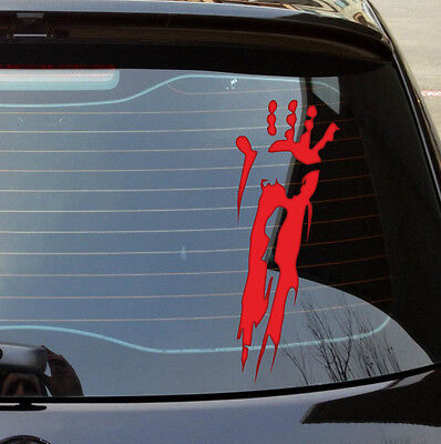 "Zombie Hands 7/"" RED Vinyl Sticker Decal Car Truck apocalypse window buy2+free"