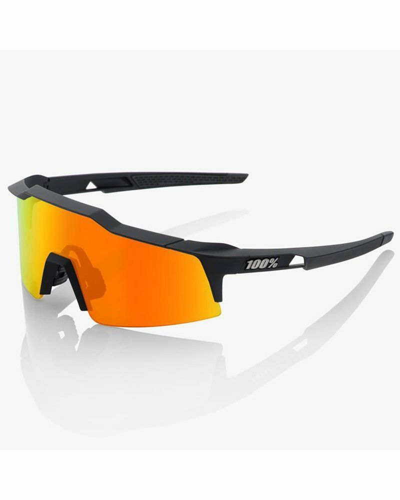 100% Lunettes SpeedCraft SL Soft Tact black HiPER Red Multicouches Miroir+