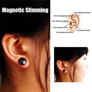Women-Black-Magnet-Earring-Ear-Stud-Stimulating-Acupressure-Weight-Loss-Jewelry