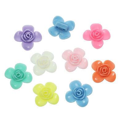 50 x Mixed FOUR PETAL Pastel Flower Beads ~ 19mm
