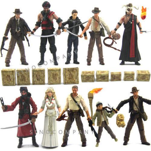 10pcs Set Xmas Gift New Indiana Jones WILLIE SCOTT TEMPLE GUARD OF DOOM Kids Toy
