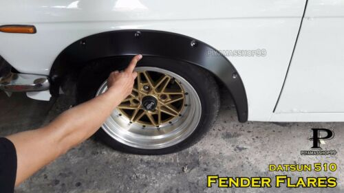 JDM Fender Flares over wide body wheel arches Metal Steel for DATSUN 510 //4-dr