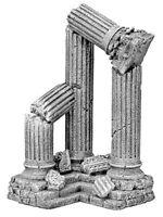 3 Column Corner Ruin Resin Aquarium Ornament