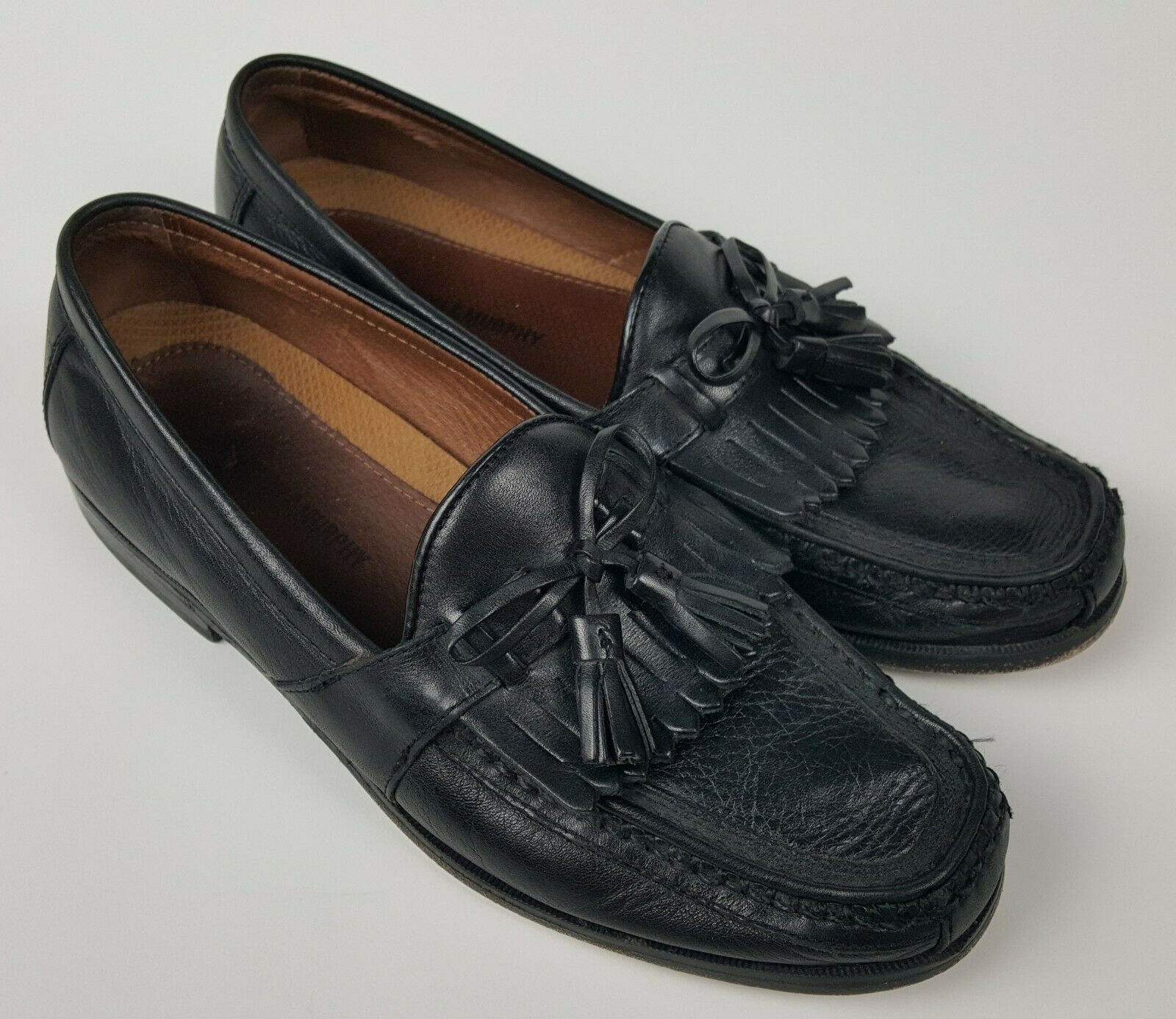 4f6a3e208caa0 Johnston & Murphy Argon II Loafer 20-0593 Tassel Black Leather Men's ...