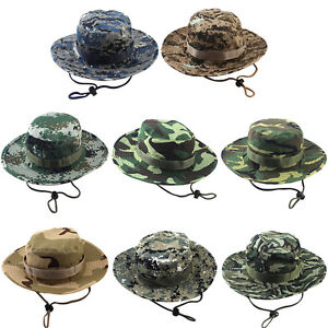 b5debdfda37 Male Men Cotton Bucket Hat Boonie Hunting Fishing Outdoor Cap Washed ...