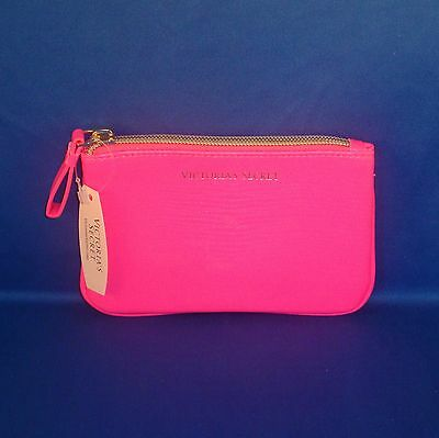 Victoria's Secret - Hot Pink - Faux Leather - Coin Purse wth Keyring - NEW