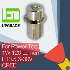 LED Upgrade Bulb Tool Torch Bosch DeWalt Makita Hitachi 9.6 12 14.4 18 24v CREE