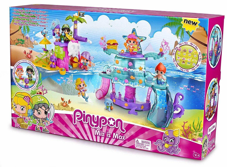 Pinypon - La Isla Mágica de Piratas y Sirenas incluye 2 figuras Pin y Pon NUEVO