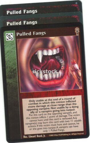 Pulled Fangs x3 CE Jyhad Lot B VTES