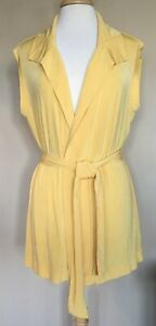Chico-039-s-Travelers-Knit-Sleeveless-Open-Front-Cardigan-Front-Tie-Yellow-3-XL-16