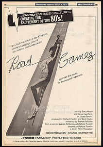 ROAD-GAMES-Original-1980-Trade-print-AD-poster-movie-promo-JAMIE-LEE-CURTIS